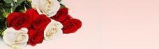 玫瑰花开淘宝海报背景