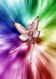 梦幻背景蝴蝶