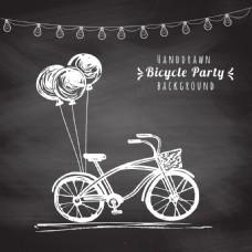 老式自行车背景卡片