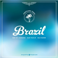 巴西模糊背景的蓝色色调