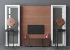泰式电视墙3d模型