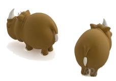 儿童动物玩具水牛3d模型