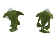 绿色儿童玩具3d模型