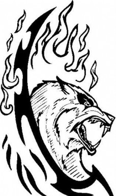 装饰图案 动物猛兽 图腾矢量素材 ai格式_07