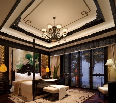 中国风卧室
