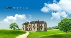草地别墅图片