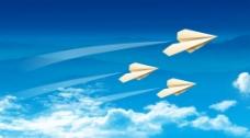蓝天 白云 飞机图片
