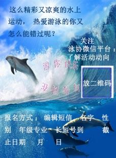 水上运动报名宣传单图片
