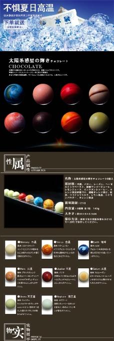 星球巧克力详情页