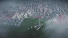 济南 航拍 雨后 2K