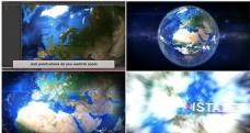 地球高空穿云层动画AE模板