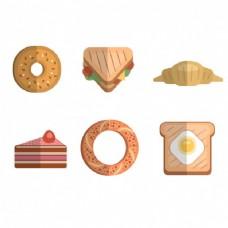 平板早餐图标收藏