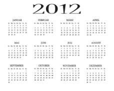 2012年日历素材