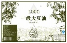 复古剪纸大豆油包装