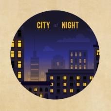 风景画都市夜晚