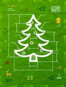 圣诞树信息图矢量素材下载
