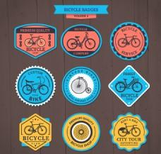 复古可爱的彩色自行车徽章包