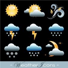9款天气图标矢量素材