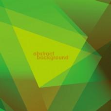绿色几何多边形背景矢量素材