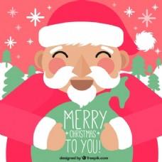 微笑圣诞老人克劳斯背景