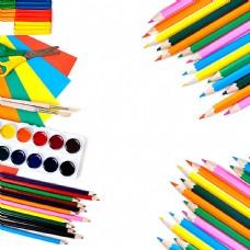 彩色铅笔背景
