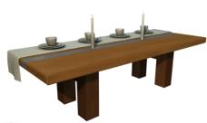 漂亮的木纹餐桌模型图片