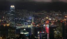 香港的夜图片
