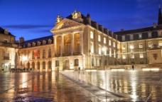 法国建筑夜景图片