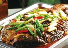 蒜香烤鱼图片