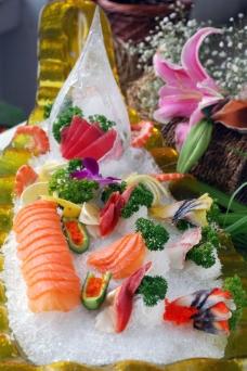 刺身拼盘  生鱼片图片