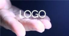 手中的logo演绎模版
