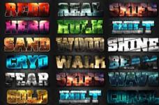 16款游戏主题风格艺术字PS样式V2