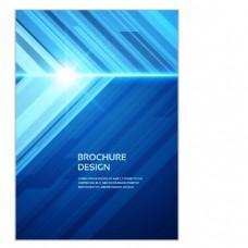 公司时尚创意展板背景蓝色风格