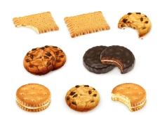 美味饼干矢量素材