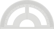 量角器图片