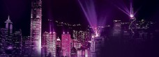 音乐紫色梦幻背景banner