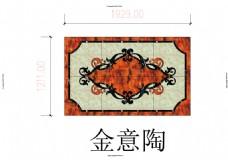 水刀地面瓷砖拼花CAD4