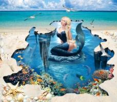 沙滩美人鱼