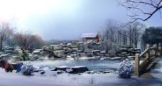 雪景素材图片