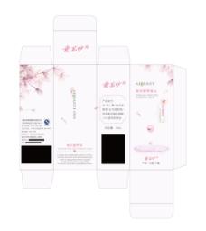 桃花营养液包装盒设计