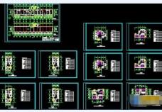 十种户型平面设计加说明cad图纸