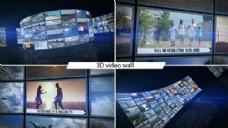 三维弧形电视墙视频包装AE模板