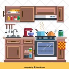 厨房里的元素
