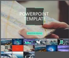 项目策划-大气商务-时尚荧光绿-PPT模板