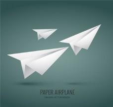 白色纸飞机矢量素材