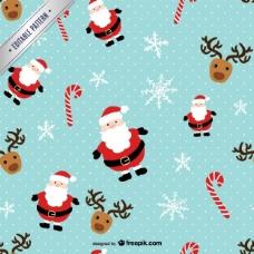 与圣克劳斯和驯鹿圣诞模式