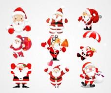 圣诞老人矢量图