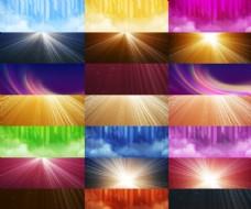 20款淘宝放射光线海报背景图片