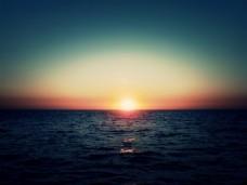 景观、 海、 地平线 壁纸 高清背景图片