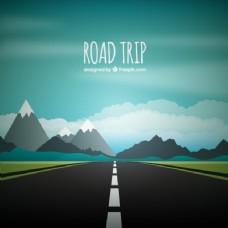 公路旅行的背景